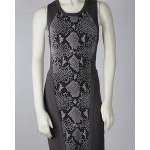 Diane Von Furstenberg Grey Sleeveless snake dress